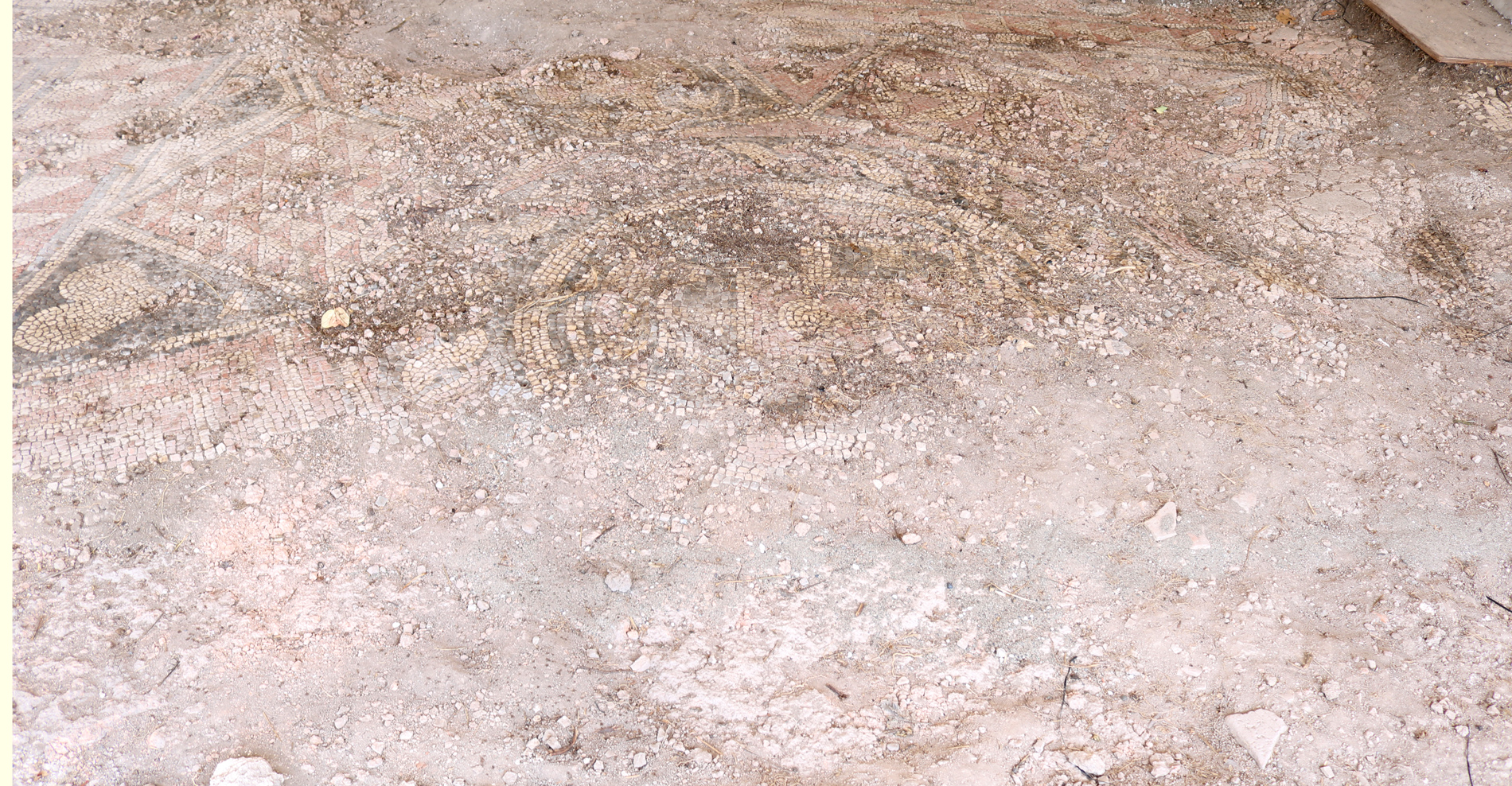 Mosaic floors yet to be restored in Mieza circa 2nd century BC