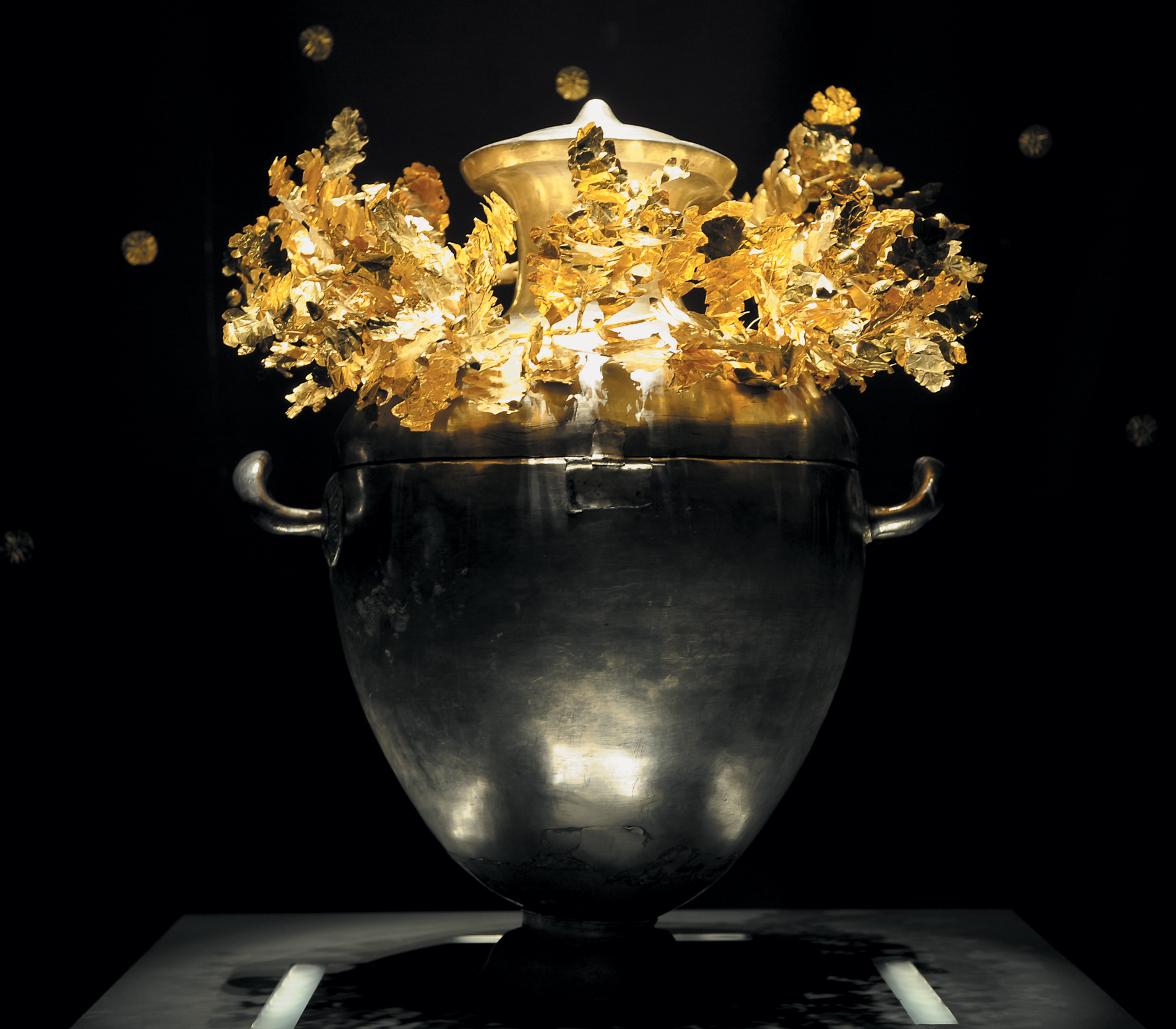 Found in the prince's tomb in Vergina and contains the bones of the prince