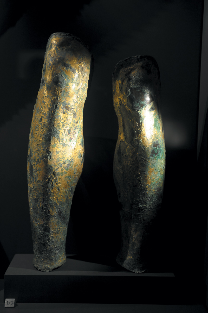 Shin guards of Philip II who had one leg longer than the other